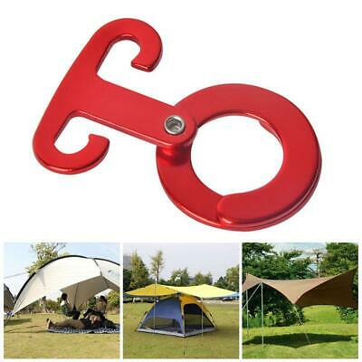 1pcs Aluminum Tent Wind Rope Round Buckle Cord Tensioner Outdoor Clips V9R6