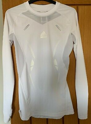 Adidas Tech Fit Base Layer, Small White