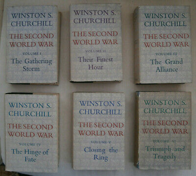The Second World War, Winston Churchill - First editions 1948 - 1954 H/B D/Ws