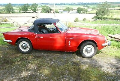triumph spitfire mk3 1300 matching numbers, low miles, original purchase receipt
