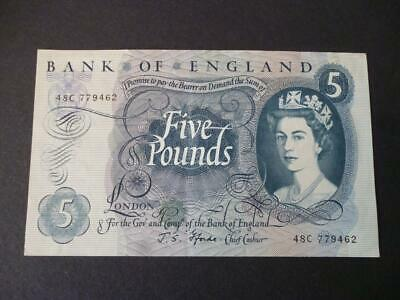J S Fforde Five Pounds Note 1967 Duggleby Ref B314 Extremely Fine Condition.
