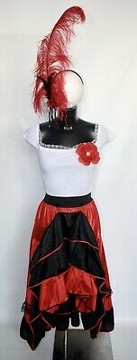 UK 8-10 S//M Wild West Ragazza Saloon Can Can Burlesque Costume Costume Outfit