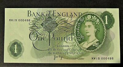 Bank of England £1 note PAGE Replacement B323 MW18 000486 aunc