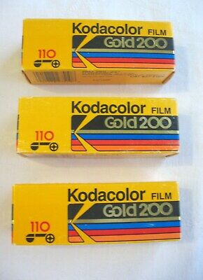 Vintage New Gold 110 Kodacolor 24 Exp. Film--3 Rolls Expired 1989!!