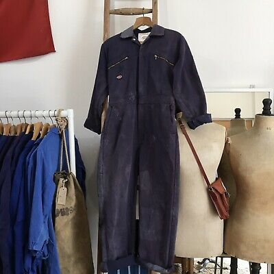Vintage Dickies Redhawk Faded Workwear Overalls Coveralls Boiler Suit M