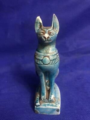 Rare Antique Statue Rare Ancient Egyptian Pharaonic BASTET STATUS Ubaste Cat  Bc