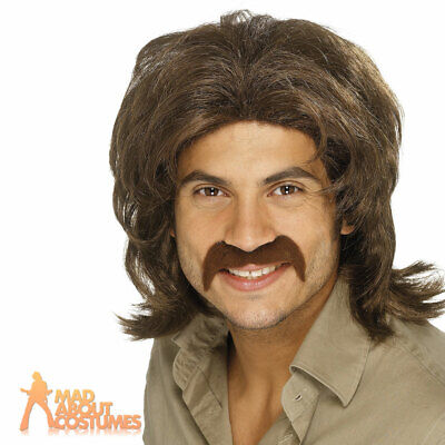 Chest Wig Brown 70s Porn Star Cave Man Mens Fancy Dress Costume