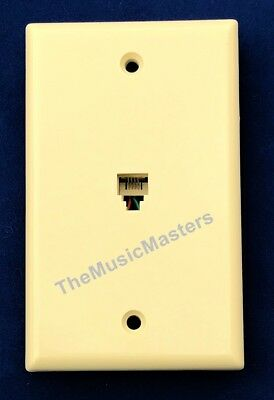 1X Ivory Modular Home Phone WALL PLATE JACK TELEPHONE Line Outlet Cover VWLTW