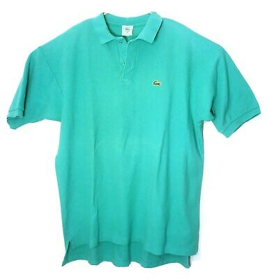 Vintage Chemise Lacoste Green Polo Shirt 80s Cotton Mens USA Made