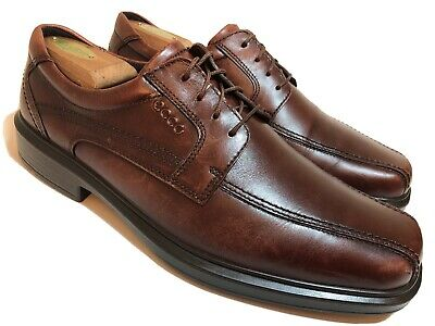 ECCO Brown Leather Oxfords Mens 10.5 EU 44 Dress Casual Shoes Bicycle Toe