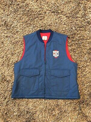 Heileman's Old Style beer Work Vest Sz XL Made In USA