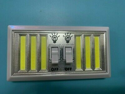 3PC LED BATTERY OPERATED NIGHT LIGHT CORDLESS BRIGHT COB CABINET PUSH ON OFF