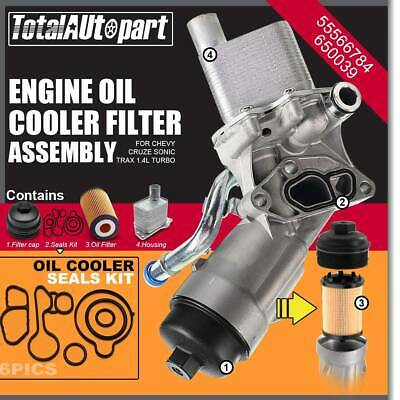 COOLER 2011-2016 NEW OEM GM   55566784 CHEVY CRUZE 1.4 OIL FILTER HOUSING