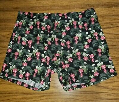 Tommy Bahama 1XB 5XB Mens Boxer Brief BLUE RED Floral Tropical Cotton Knit NWOT