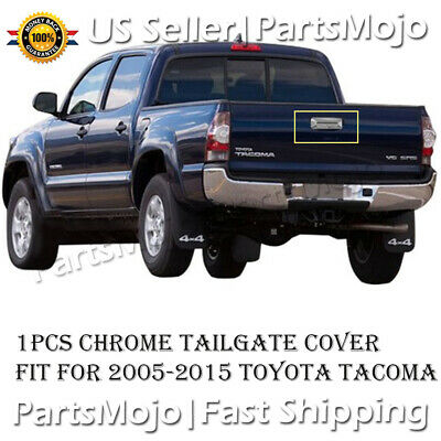 MIRROR CHROME TAILGATE HANDLE DOOR COVER W//CAMERA HOLE FIT 05-15 TOYOTA TACOMA