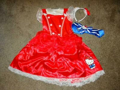 7-8 Details about  /AUTHENTIC DELUXE HELLO KITTY SANRIO COSTUME MEDIUM