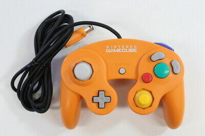 Official Nintendo GameCube Controller Pad Orange Cord Damage Wears Switch Tight