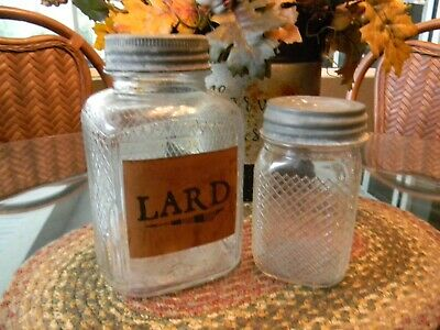 """NEW 8/"""" Primitive Country Halloween VAMPIRE FANGS Grungy Glass JAR Cupboard Tuck"""