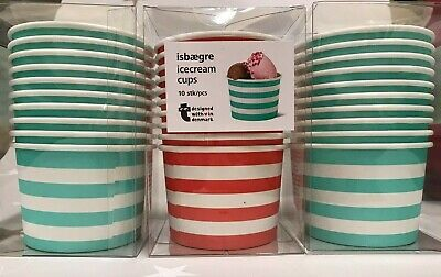 24 x Disposable Paper 8oz Delicious Ice Cream cups Jelly Sweet ...