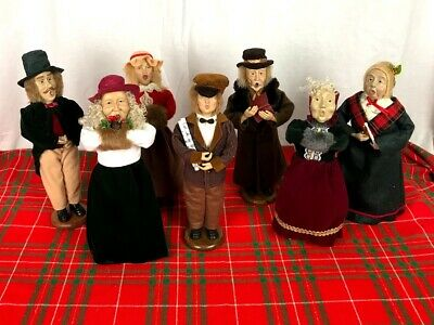 Vintage Christmas Caroler Figurines Lot Of 9 Set Holiday Collectible 12 Dolls 80 00 Picclick