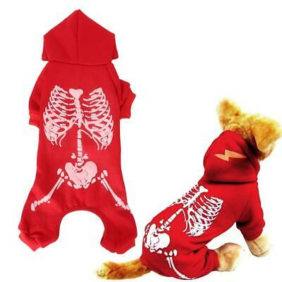 Pet Dog Cat Polyester Clothes Soft Halloween Costume Vest With Luminous Sk