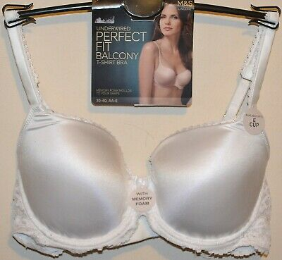 LADIES M/&S PLUNGE T-SHIRT BRA SIZE 30D FAWN UNDERWIRED PADDED FAWN BNWT