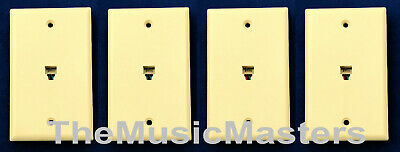 4X Ivory Modular Home Phone WALL PLATE JACK TELEPHONE Line Outlet Cover VWLTW