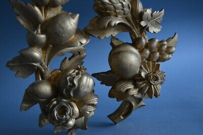 Pair of  Gilded Ornamental Element / Home Decor / Architectural Element