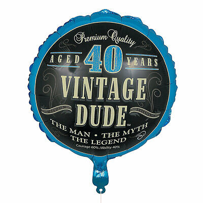 VINTAGE DUDE 60TH BIRTHDAY 45CM FOIL BALLOON PARTY DECORATIONS