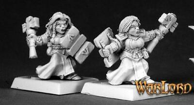 #06209 Warlord Army Pack Unpainted Mini Reaper Miniatures Dwarf Forgemaidens 9