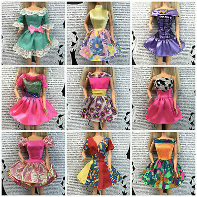 Assorted Lot of Crocheted Dresses Jackets Coats Capes Fashions for BARBIE M9