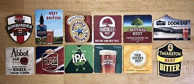 Lot 4 Assorted Mix of 10 Bar Pub Beer Mats Coasters   PARTY PACK