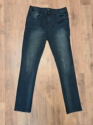Boys river Island Distressed Skinny Jeans Blue Size 11 Years