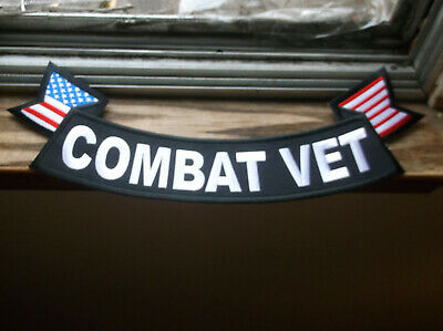 """USMC /""""MARINES CORPS RETIRED/""""12 inch CENTER BACK PATCH UPPER LOWER ROCKERS 3pcs"""
