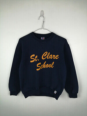 Childs Russell Athletic Sweatshirt Size S Dark Blue Long Sleeve Crew Neck Top
