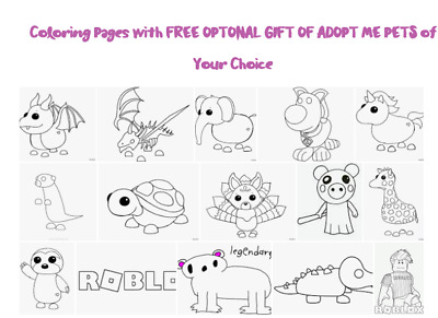 Coloring Pages With Free Roblox Adopt Me Neon Fly Ride Meerkat 39 99 Picclick