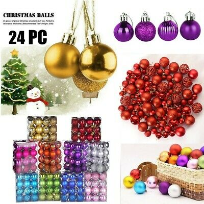 1.57,40mm LancerPac 24ct Small Christmas Ball Ornaments Shatterproof Christmas Hanging Tree Decorative Balls Party Holiday Wedding Decor Blue