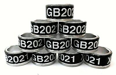 10 x GB 2020 10mm Pigeon Leg Bands Rings Large fancy breeds Feather legs NPR.