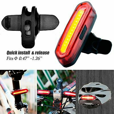 6 Modes COB LED Bicycle Tail Light Bike Cycling Front Rear USB Rechargeable 100l
