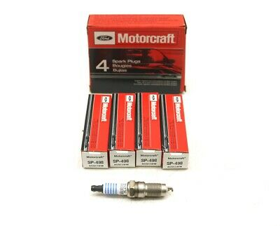 4 FORD MOTORCRAFT SP-498 SUPPRESSOR SPARK PLUGS AGSF24FM FOR MUSTANG B4000