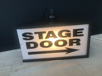 Modern Style Led Light Box Sign Stage Door Ideal Gift For A Showbiz Friend 85 00 Picclick Uk
