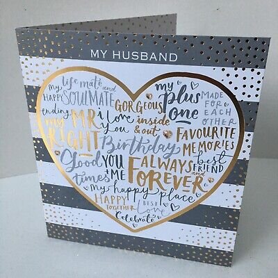 Husband Birthday Cards In 9 Designs From £1.49
