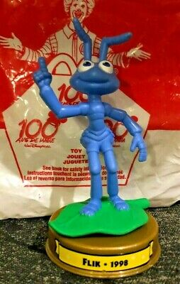 """DISNEY 100 YEARS OF MAGIC A BUG/'S LIFE FLIK 4/"""" TOY FIGURE CAKE TOPPER"""