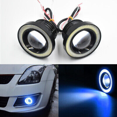 """HOT SALE NEW 2PC 3/"""" BLUE CCFL ANGEL EYE PROJECTOR FOG LAMPS FOR GMC HID READY"""