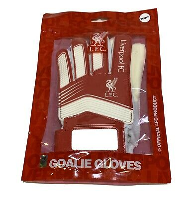 LIVERPOOL FC YOUTH BOYS GOALKEEPER GOAL KEEPER GLOVES GOALY PADDED NEW XMAS GIFT
