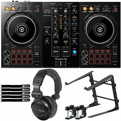 Pioneer DDJ-400 2 Channel Built-In Mixer rekordbox DJ Controller & Laptop Stand