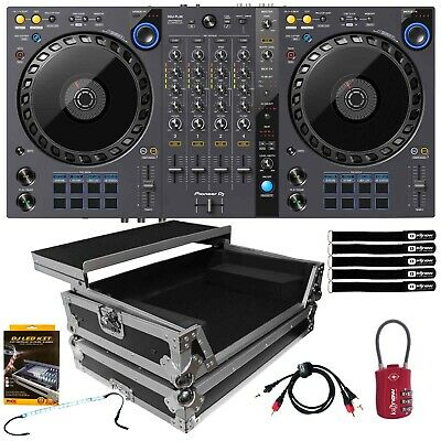Pioneer DDJ-FLX6 4-Channel Serato Rekordbox DJ Controller w Laptop Flight Case