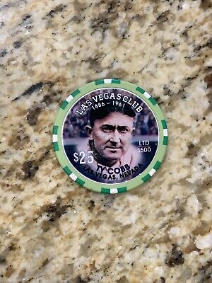 Ty Cobb  Las Vegas Club $25 Casino Chip Limited Edition of 1500 Mint Condition
