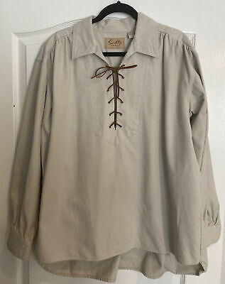 Rangewear by Scully Osnaburg Button Front Shirt RW122 NAT