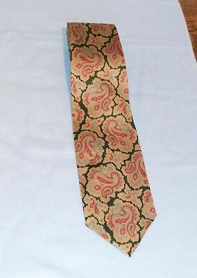 Vintage Austin Reed Silk Tie Black Gold Burgundy Paisley Floral Design 5 00 Picclick Uk